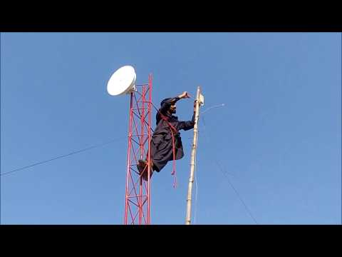 Wifi Tower build,installation,fitting Ubnt Power Beam m400 & Loco m5 (Urdu/Hindi)