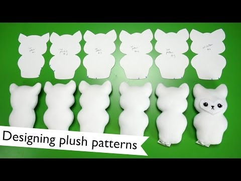 How I design plushie patterns | @laurenfairwx