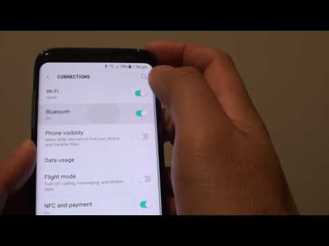 Samsung Galaxy S8: How to Remove Paired Bluetooth Device