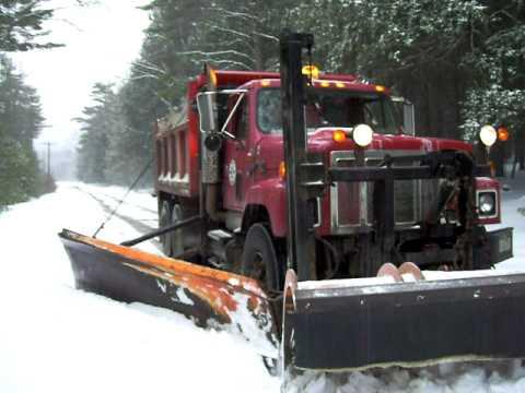 My snow plow / dump truck