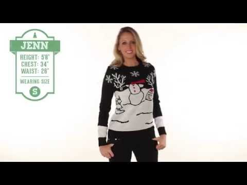 Ugly Christmas Sweater - The Headless Snowman Sweater by Tipsy Elves