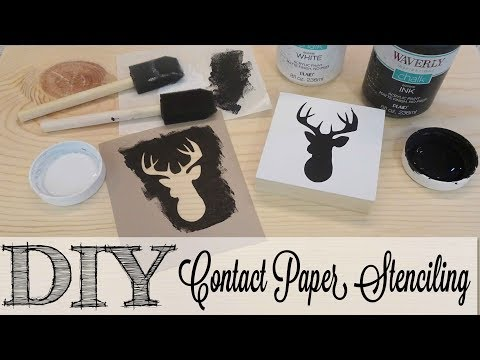 DIY Creating Contact Paper Stencils | FULL TUTORIAL
