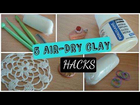 5 Air Dry Clay Hacks!