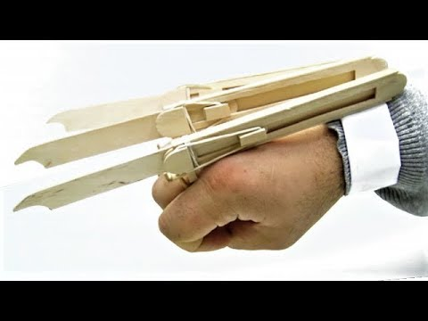 How to make Logan X-Men Wolverine Automatic Claws from Popsicle Sticks
