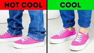 COOL VS. NOT COOL || 20 CLOTHING HACKS