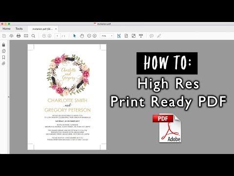 How to save a high resolution print ready PDF | DIY Wedding Invitations, Digital Printing