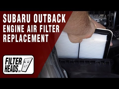 How to Replace Engine Air Filter 2012 Subaru Outback H4 2.5L