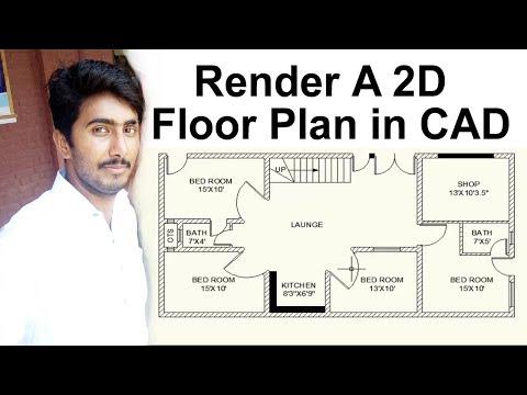 2D Floor Plan Rendering in AutoCAD - Floor Plan Rendering