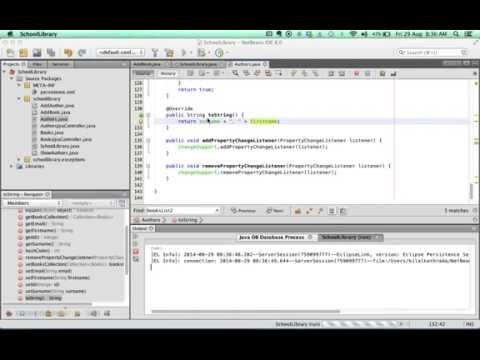 Creating a basic Database SWING App with NetBeans 5 of 6