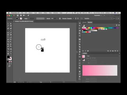 How to write equations in ilustrator