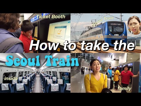 How to take the train from airport to seoul.