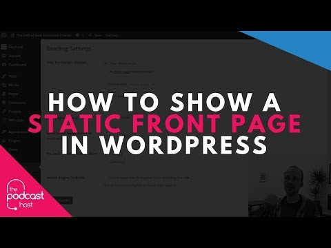 How to Show a Static Front Page in Wordpress