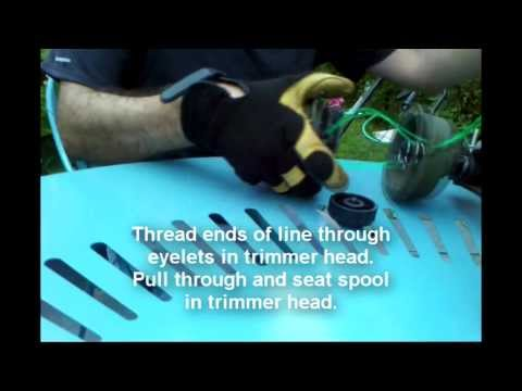 Replacing Trimmer Line On Ryobi Reel Easy Trimmer Head