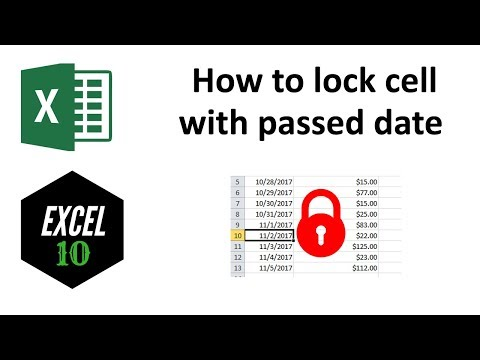 How to Protect Cell Based on Date in Excel