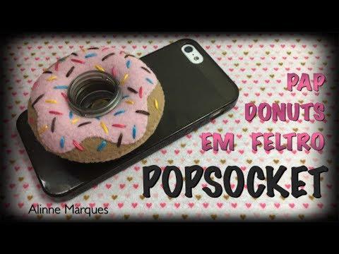 {DIY} Popsocket Donuts em Feltro