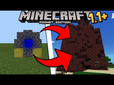MCPE 1.1/1.1.1 Working Nether Reactor | Minecraft Pocket Edition