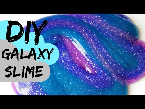 How to Make Glitter Galaxy Slime Recipe #3
