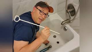 How to unclog a bathtub drain.