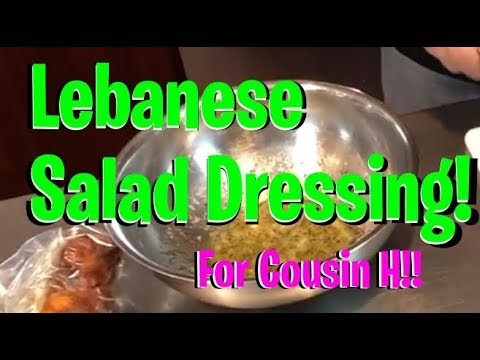 Lebanese Lemon/Mint Salad Dressing