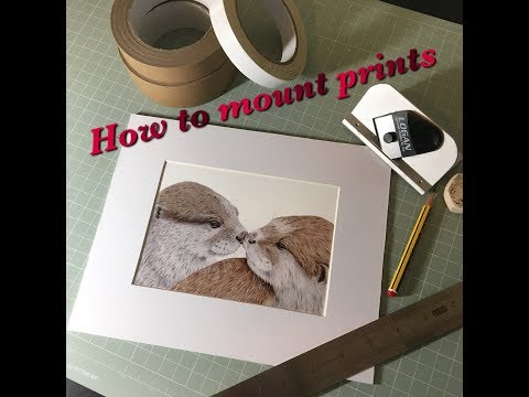 How to Mount Coloured Pencil Prints, Using a Logan Mount Cutter