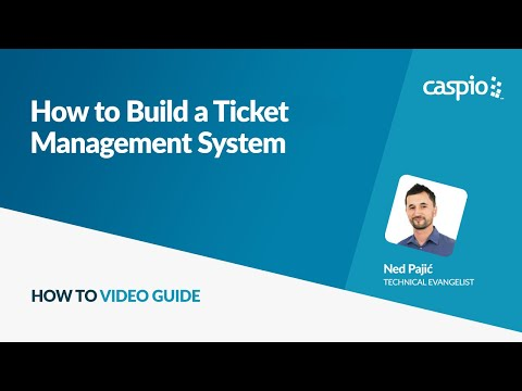 How To Create a Database Driven Website Application Without Coding - Ticket Management System