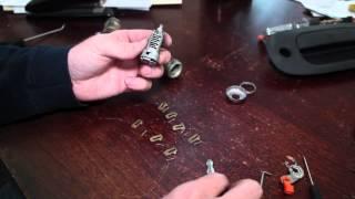 Recode Rekey Car Door Lock Cylinder Use Any Key To Unlock Car Ex Dura