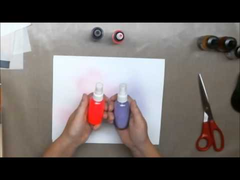 How To Make Homemade Art Sprays with Acrylic Paint, Water and Alcohol