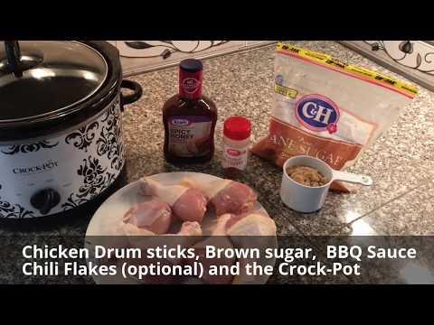 Easy BBQ Chicken In The Crock-Pot