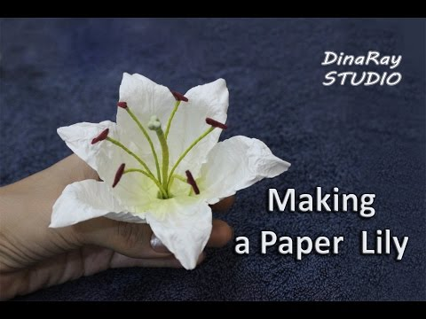Making paper lily