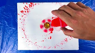 Download Rainbow Acrylic Pouring On A Spinning Fidget Spinner Video