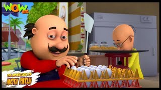 Motu Patlu New Episode | Cartoons | Kids TV Shows | Motu Patlu Omelette Pav Shop | Wow Kidz