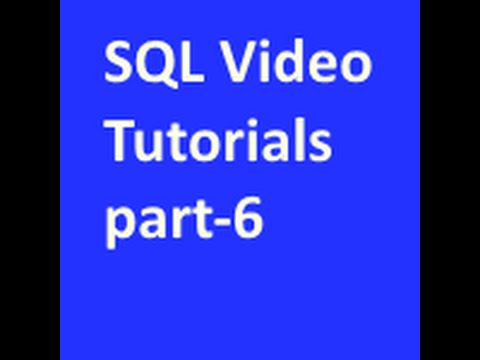 Inserting Data into Tables in SQL Tutorial part-6
