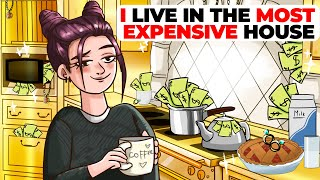 I Live in the Most Expensive House in the USA | Animated Story about Luxury