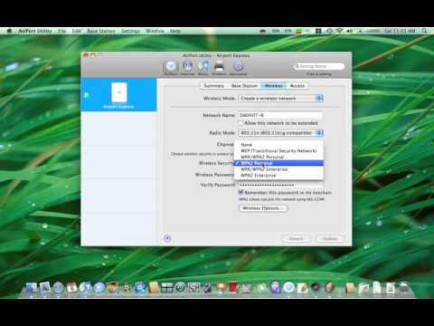 How to setup airport express
