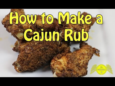 Cajun Dry Rub Chicken Wings - The Only Cajun Seasoning Recipe You Will Ever Need