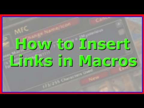 How to Link Items in a Macro in WoW