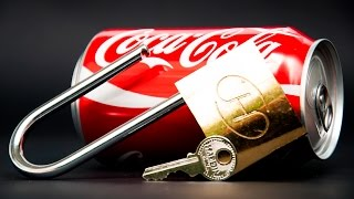 How to Open a Padlock with a Coca Cola Can