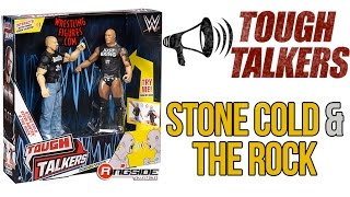 WWE FIGURE INSIDER: Stone Cold & The Rock - Mattel WWE Tough Talkers 2-Packs Series