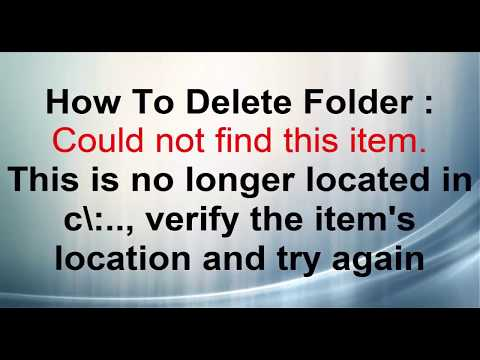 This is no longer located in c\:. , verify the item's location and try again