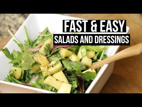 FAST AND EASY SALADS + DRESSING COOKING TUTORIAL | SCCASTANEDA
