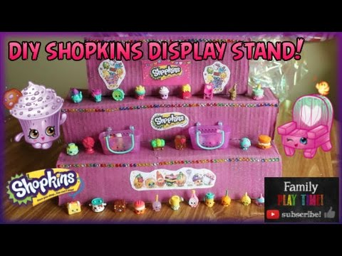 How to Make a Shopkins Display Stand - Cardboard DIY Tutorial - Crafty Do it Yourself