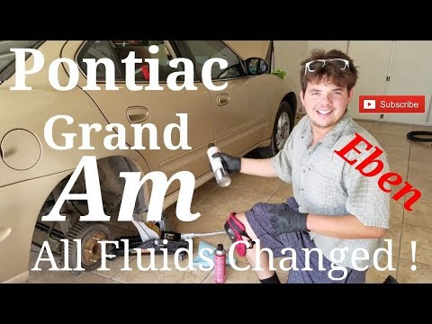 2004 Pontiac Grand AM Oil, Transmission, Brake, Power Steering and Coolant Fluid Change