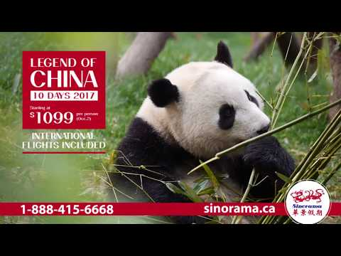 Legend of China 10days 2017 $1,099 (p.p.) Flights Included!