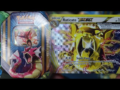 Pokemon Cards – Shiny Gyarados EX Triple Power Tin Opening! (CRAZY!)