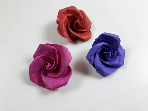 How to make a paper Rose?