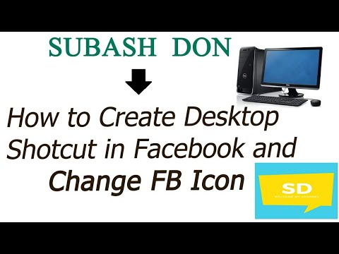 How to create Desktop shortcut Facebook and change Fb icon