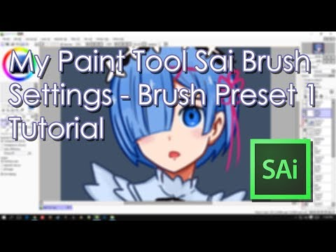 My Paint Tool Sai Brush Settings - Brush Preset 1 Inking and Coloring Tutorial