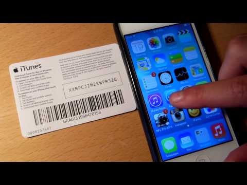 iOS 7 iTunes gift card scanner