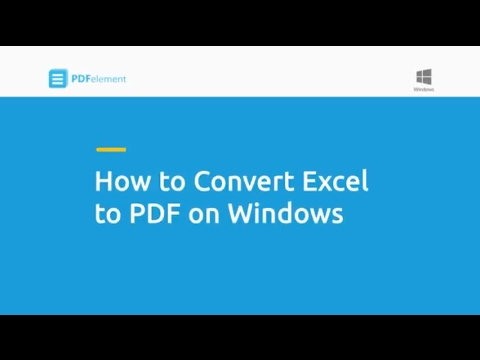 How to Convert Excel to PDF on Windows