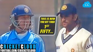 MS Dhoni Showing how to hit 1st Fifty in ODI & Test Match !!